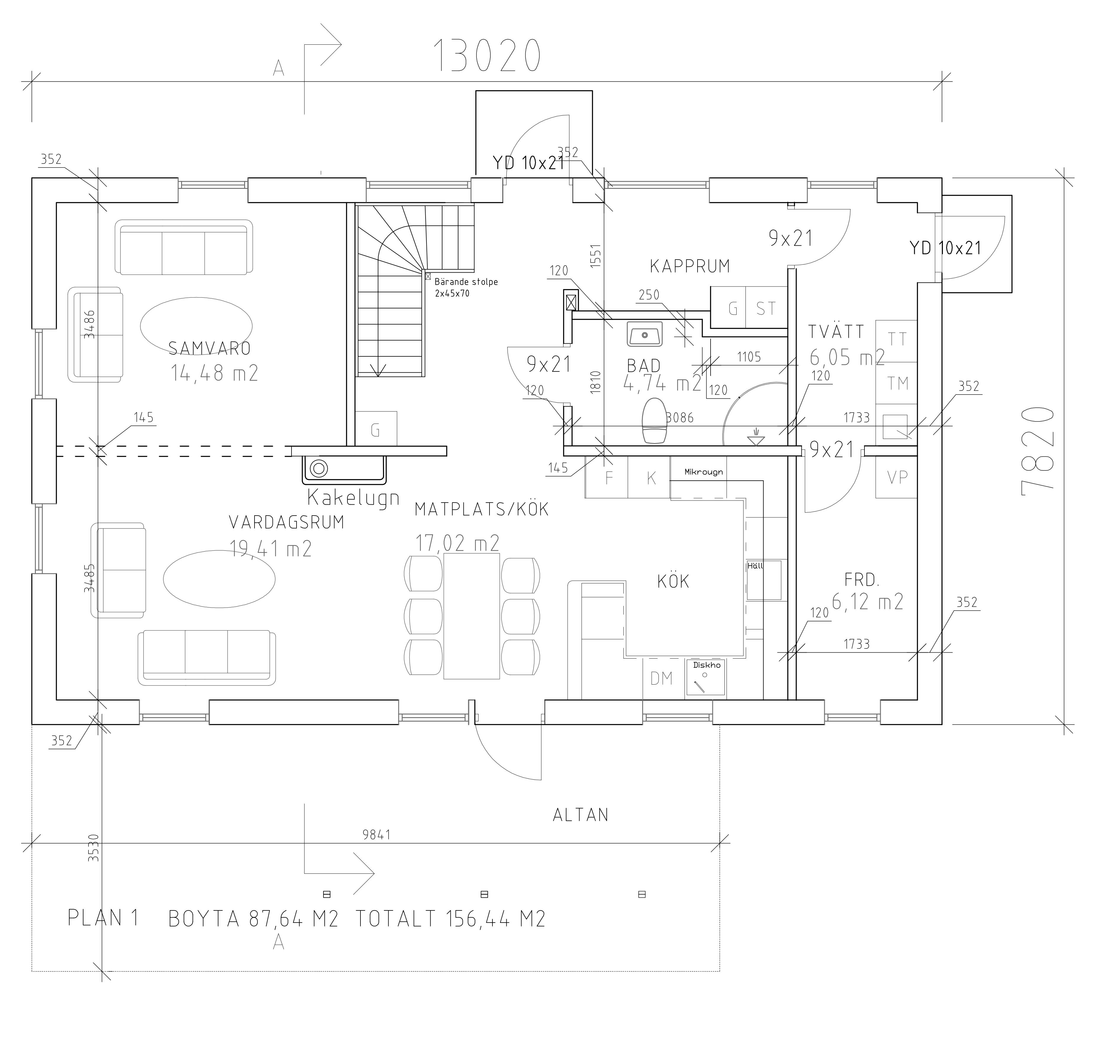 Håkanson Bygg Fridkulla våning 1