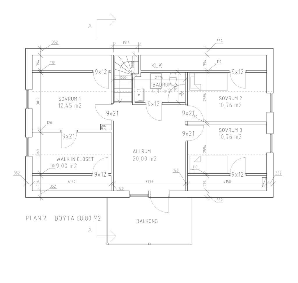 Håkanson Bygg Fridkulla våning 2